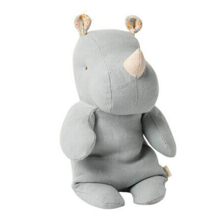 Petite Peluche Rhino Bleue - Safari friends Maileg